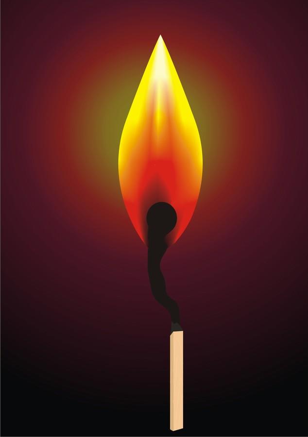 фото спички горящей
